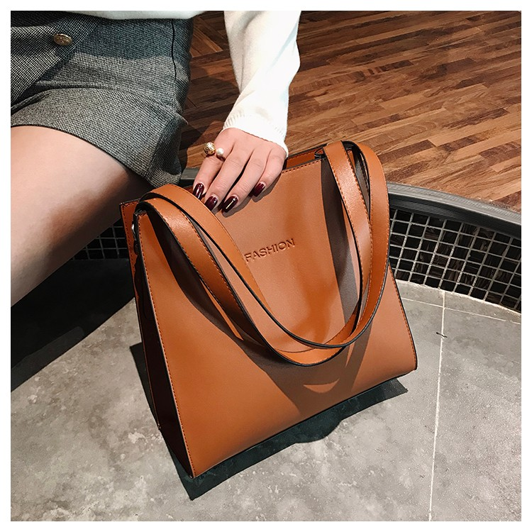 Autumn And Winter Large-capacity Bag Retro Handbag 2019 New Simple Fashion Soft Leather Shoulder Tote Bag