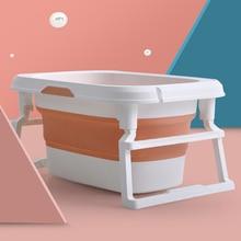Portable Baby Shower Bath Tub Pad Non-Slip Bathtub Mat Newborn Safety Security Bath Support Cushion Foldable mini swimming pool