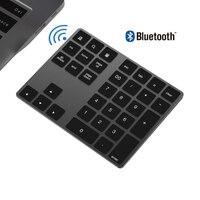 ATERZING Bluetooth 숫자 키패드 휴대용 무선 외부 번호 키보드 USB3.1 허브 Macbook Mac PC 노트북 안드로이드 태블릿
