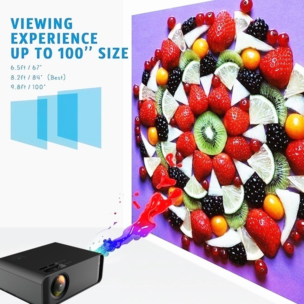 NEW type W80 HD Home Projector HDMI/AV/USB/SD/VGA Support Dolby Sound basic 2300 Lumens Euro Regulation - 5
