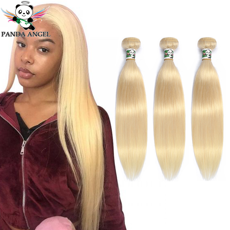 Malaysian 613 Blonde Straight Hair Bundles 1pcs Remy Hair Weave Bundles Human Hair Extensions For Black Women 8-30Inch Panda