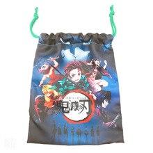 Новинка демон убийца ткань сумка милый аксессуары печать одежда хранение танджиро путешествия благословение сумка шнурок карман подарки