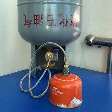 Adaptador de manguera de propano, repuesto para calentador, parrilla, estufa, tanque de Gas, regulador cilíndrico para acampar, senderismo, mochilero, pesca, Acce