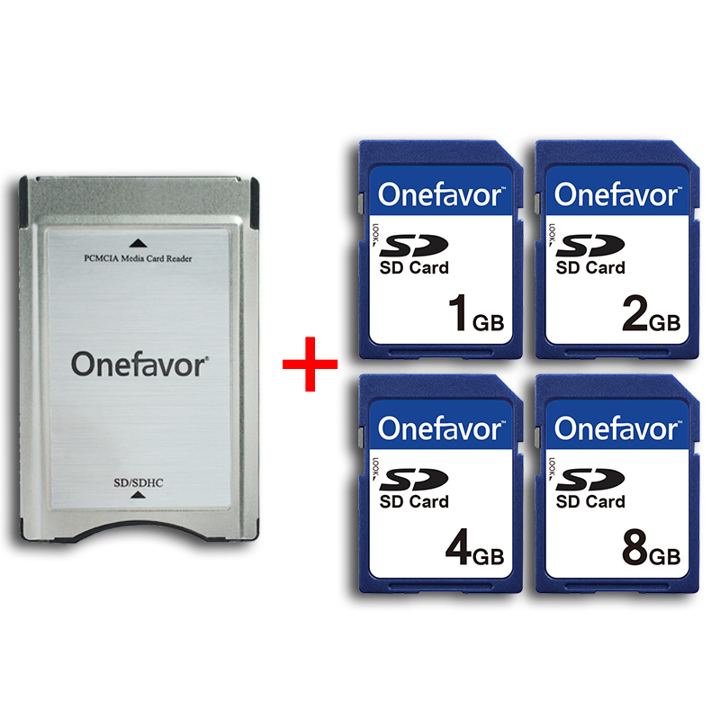 1GB 2GB 4GB 8GB Memory Card With adapter onefavor PCMCIA SD card reader for Mercedes Benz MP3 memory
