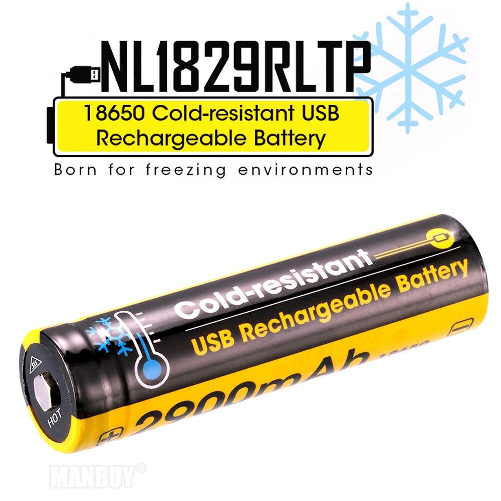 2020 NITECORE NL1829RLTP Cold Resistant 2900mAh 5A 18650 USB Direct Charging Li-ion Battery In Low Temperature Environments -40C