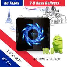 X96Q MAX IPTV Box Android 10.0 Smart TV Box 4K QHDTV 2.4G/5.8G WiFi BT5.0 Media Player X96QMax Android TV Box Ship from France