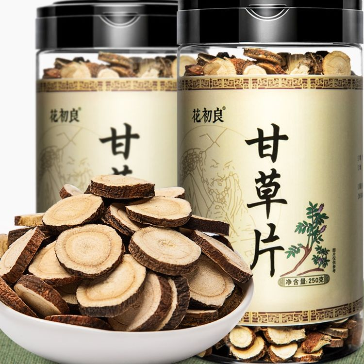 Licorice Tablets Soaked in Water Bottled Hay Powder Tea Traditional Chinese Medicine Astragalus Tea