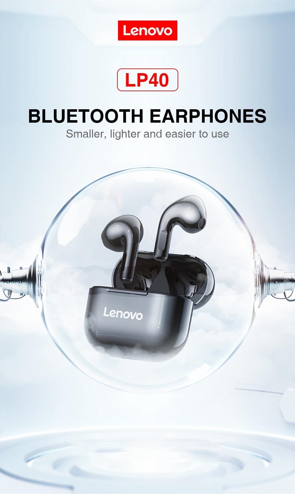 Lenovo LP40 TWS Wireless Bluetooth Earbuds 4