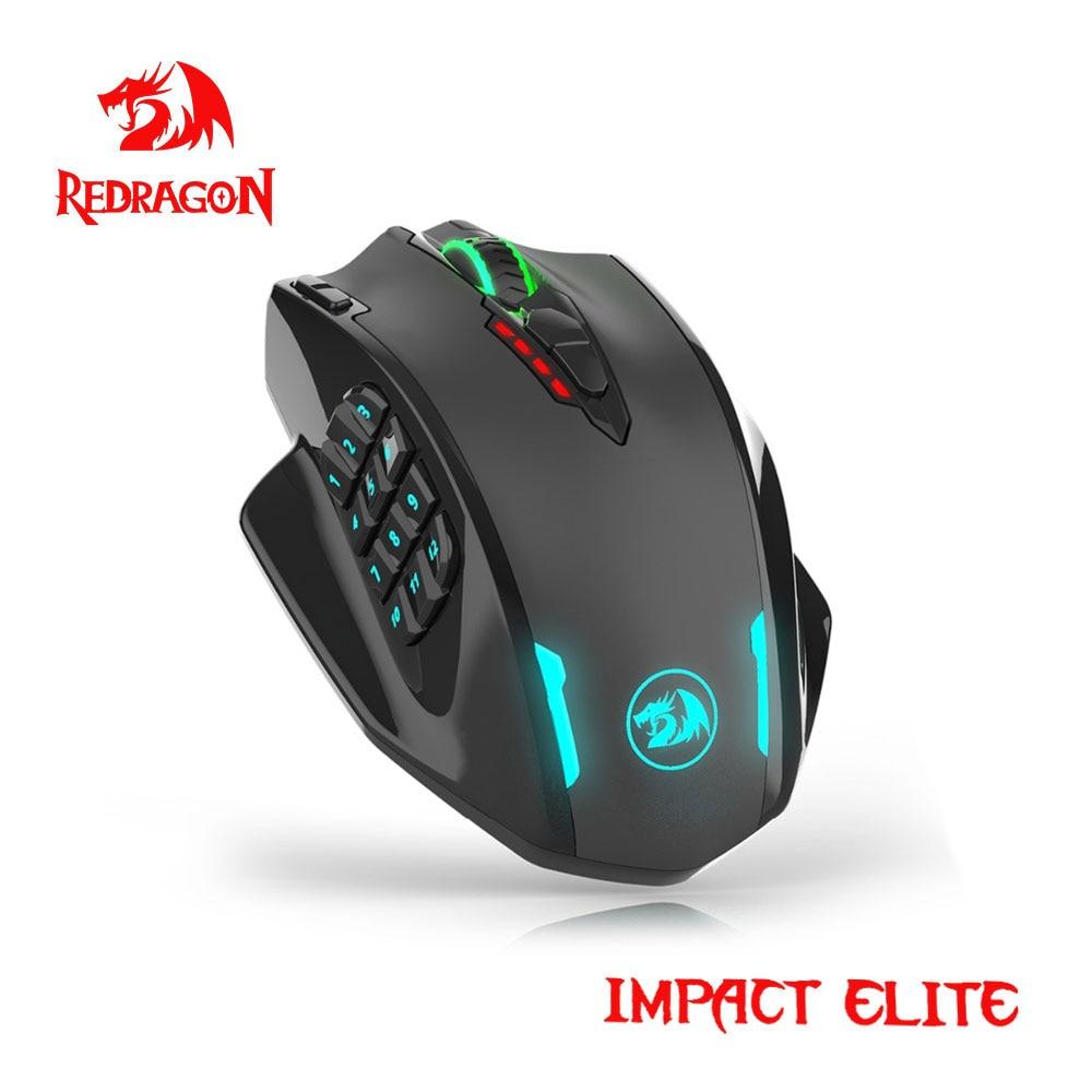 Redragon Auswirkungen Elite M913 RGB USB 2,4G Wireless Gaming Maus 16000 DPI 16 tasten Programmierbare ergonomische für gamer Mäuse PC