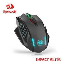Redragon Impact Elite M913 RGB USB 2.4G bezprzewodowa mysz do gier 16000 DPI 16 przycisków programowalna ergonomiczna mysz dla gracza PC