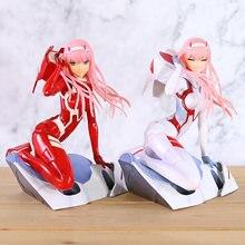 Querida no franxx zero dois código 002 pvc figura anime menina modelo brinquedo coleção boneca