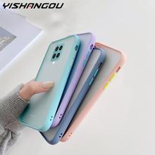 Matte Translucent Shockproof Cover For Xiaomi Redmi Note 9S 9 K20 Pro Note 7 8 Pro Mi 8 9 10 Lite CC9E CC9 10T Pro POCO X3 Cases
