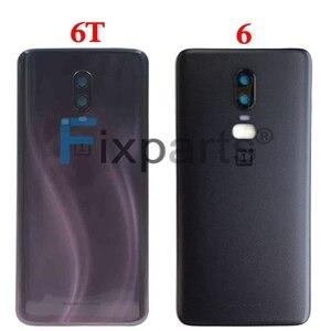 Image 5 - Oryginalne szkło A6000 do OnePlus 6 7 Pro tylna pokrywa baterii tylna szyba do Oneplus 6T pokrywa baterii 1 + 6 obudowa Case + klej