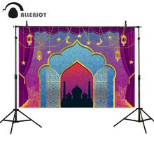 Allenjoy photophone backgrounds Arabian princess architecture stage fairy tale arch curtain photography backdrop photobooth