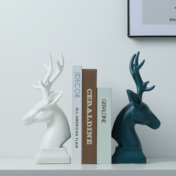 Ceramic Brief elegant bookend fashion book end accessories classical deer bookend Ornaments Creative Household Decor