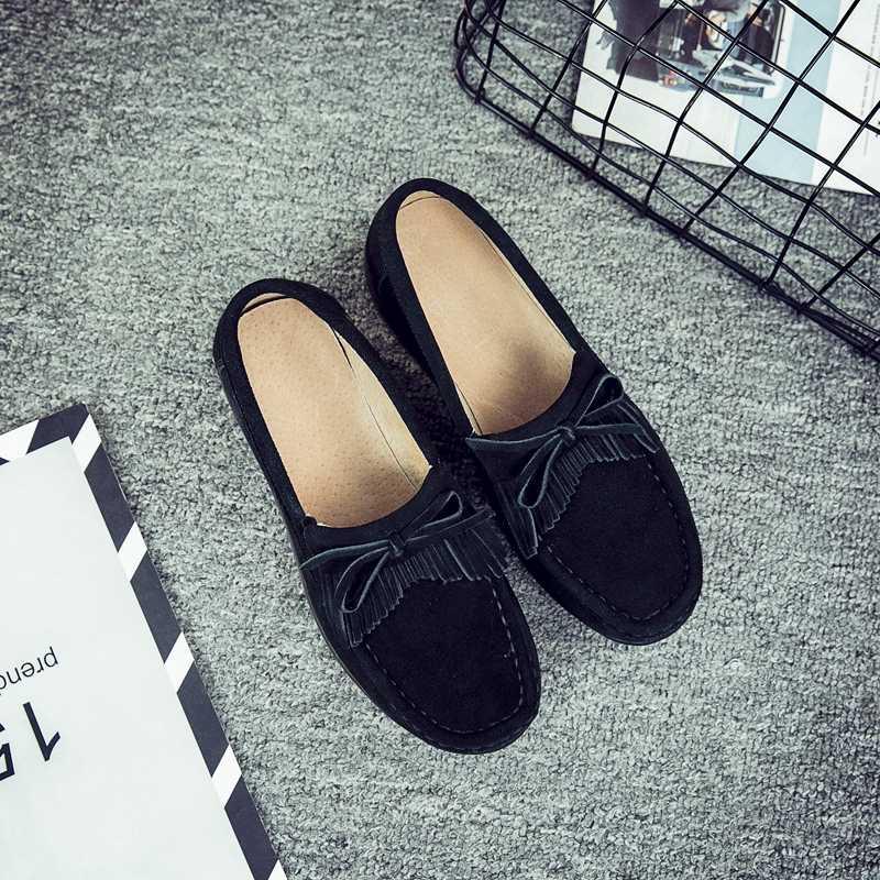 2019 printemps chaussures plates femmes plate-forme baskets femmes mocassins chaussures en cuir sans lacet chaussures plates décontracté dames mocassins gland Creeper