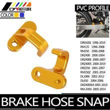 Per Suzuki DR RM DRZ RMZ DL 125 250 400 400S 400E RMZ450 DRZ250 DRZ400 DRZ450 400SM 1996 2019 CNC tubo freno moto Snap