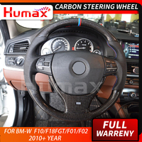 5 Series carbon fiber steering wheel for BMW 5 series F10 F18 5 series GT 7 series F01 F02 2015 2018 auto customized car parts
