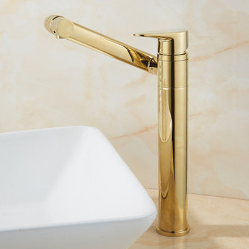 Bathroom Basin Faucet Hot & Cold Sink Mixer Tap Brass Rotating Lavatory White Baking Water Crane Tap Single Handle Deck Mounted 20