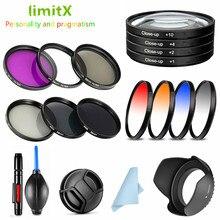 UV CPL ND FLD 졸업 된 색상 닫기 필터 및 렌즈 후드 캡 청소 펜 Nikon CoolPix P900 P950 P1000 디지털 카메라