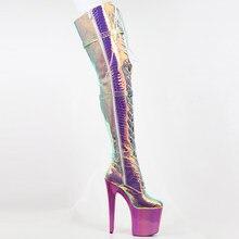 20 cm wysoki seksowny buty, galwanicznie podeszwa przebarwienia górnej zakolanówki buty, 8 cali, super sexy buty dla kobiet