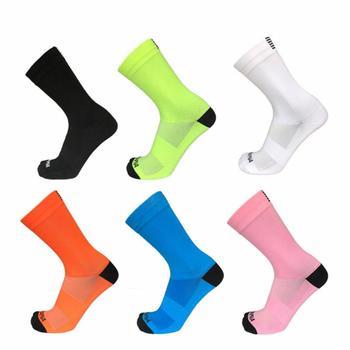 2 pçs meias de ciclismo esportes ao ar livre meias de compressão da bicicleta de estrada meias corrida caminhadas estrada mtb mountain bicyle meias unisex 1