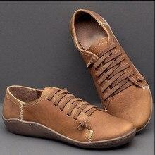 Zapatos de tacón bajo para mujer con cabeza redonda, zapatos casuales de moda de estilo romano Vintage de color sólido con cómodos zapatos marrones con cordones