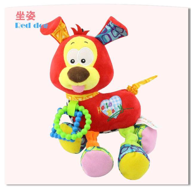 Baby, Kleinkind Spielzeug Tier Weiche Rasseln Bett Krippe Kinderwagen Musik Hängen Glocke Spielzeug Hund Kinder Gefüllte Spielzeug Beißring Kinder Puppe babys