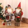 Decorações de natal alta qualidade simulação papai noel boneca cena da janela ornamentos mesa brinquedos natal ano novo presente das crianças