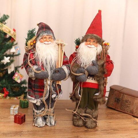 decoracoes de natal alta qualidade simulacao papai noel boneca cena da janela ornamentos mesa brinquedos