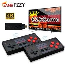 4k hdmi vídeo game console construído em 628/818/1000 jogos clássicos mini retro console sem fio controlador hdmi saída dupla jogadores
