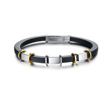New Punk Stainless Steel Bracelets & Bangles Silicone Bracelet Men Jewelry Silver Color Friendship Male Accessories 2018 все цены
