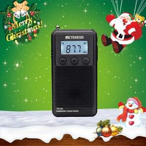 Image 1 - Retekess tr103 bolso portátil mini rádio fm/mw/rádio de ondas curtas sintonização digital 9/10khz mp3 leitor de música bateria recarregável