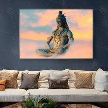 Shiva Lord Wall Art poster e stampe dei indù ritratto tela pittura induismo religioso immagine da parete per soggiorno Decor