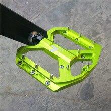 엔조 플랫 발 초경량 산악 자전거 페달 MTB CNC 알루미늄 합금 씰링 3 베어링 안티 슬립 자전거 페달 자전거 부품