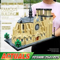 Yeshin Architecture NOTRE DAME CATHEDRAL of Paris Building Blocks Brick Classic Landmark Model Lepining Blocks Toys For Children