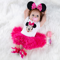 Cartoon Full Body Silicone Dolls Baby Reborn Doll Girl Newborn Toys Christmas Gifts