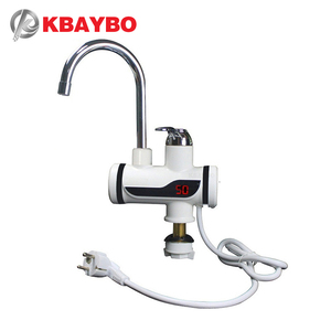 Image 5 - 3000W Instant Water Heater Crane Temperature Display Water Heater Electric Hot Water Tankless Heating Bathroom Kitchen Faucet