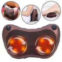 Electric Heat Infrared Neck Massager Cervical Spine Shoulder Back Relax Pillow Massage Pillow Deep Kneading Massager Relax
