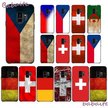 Babaite Czech Republic switzerland germany flag Colorful Cute Phone Case for Samsung Note 3 4 5 7 8 9 10 pro M10 Mobile Cover image