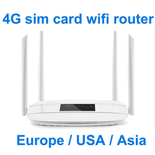 4G wifi router lte cpe SIM card 300m CAT4 32 users RJ45 WAN LAN indoor CPE wireless