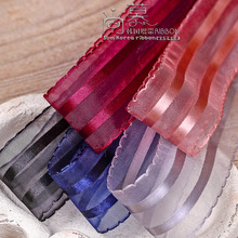 100yards 10 16 25 38mm double picot edge satin stripes organza sheer ribbon for hair bow diy accessories bouquet packing bow смеситель для раковины paini morgana 73cr205lzll хром