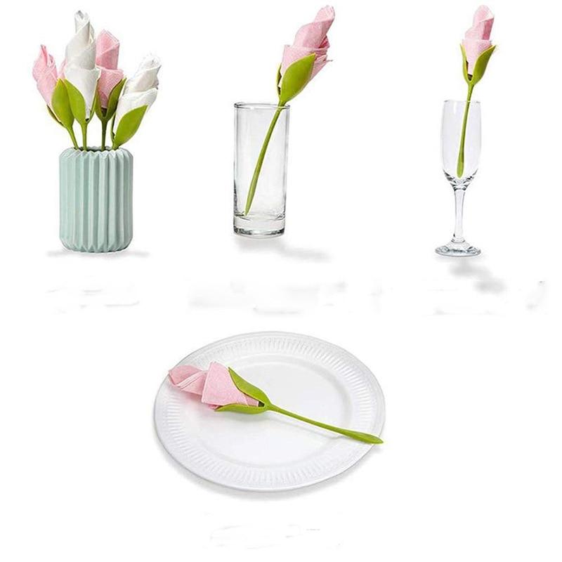 Tissue Flower Tool Napkin Holder Rose Curling Flower Set Home Origami Flower Set Napkin Holders