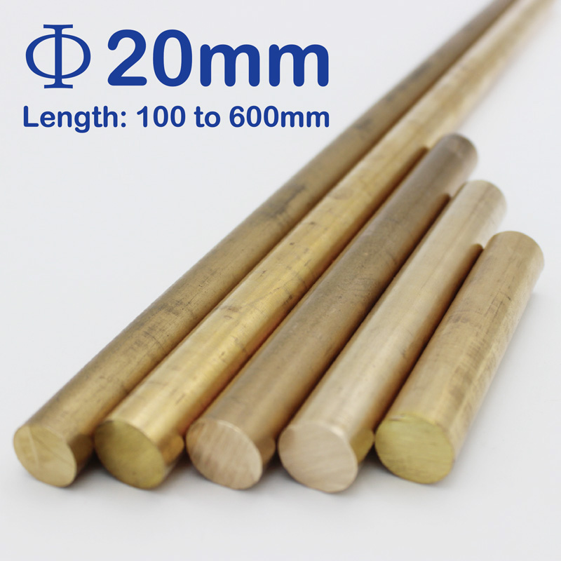 Diameter 20mm Brass Round Rod Bar Solid Lathe Cutting Tool Metal Rods