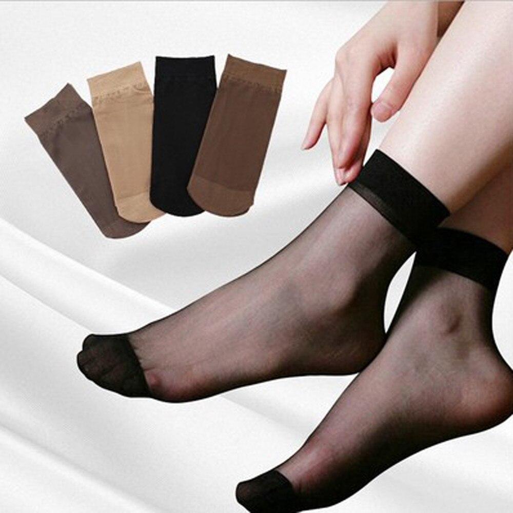10PCS High Quality Sock Short Stockings Spring And Summer Invisible Socks Women Elastic Black Transparent Nylon Socks Female 9.4