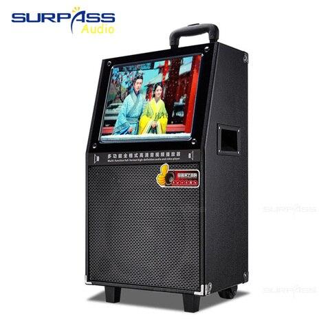 Sistema de Alta Alto-falante ao ar Livre com 15 Portátil Qualidade Polegada Woofer Trole Karaoke hd Tela Azul Dente Alto-falante 12