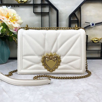 Ladies Metal Love Heart Fashion Pattern Chain Shoulder Crossbody Bags High Quality Women Leather Handbags Clutch Evening Bags