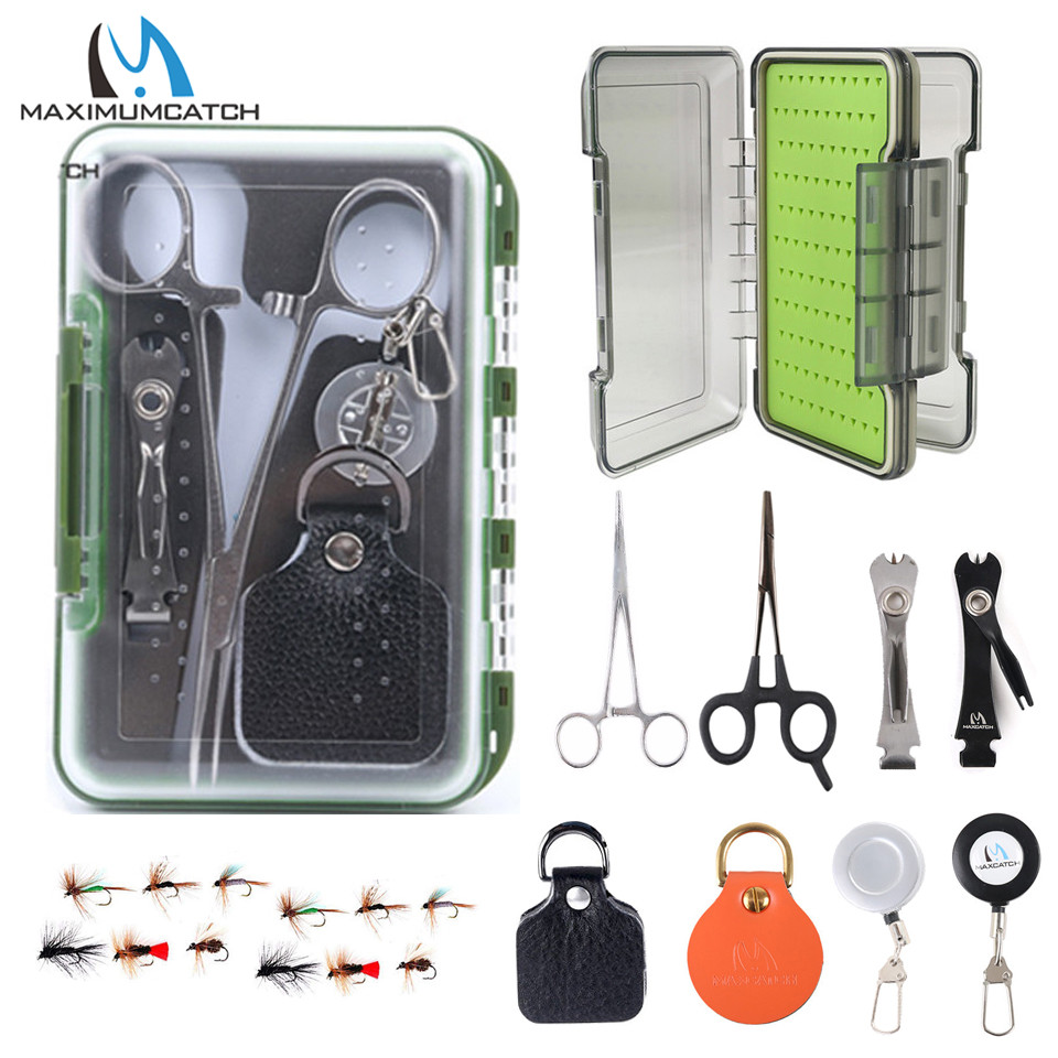 Maximumcatch Fly Fishing Tools Fishing Accessory & Forceps & Retractor & Nipper&Fly Box Flies