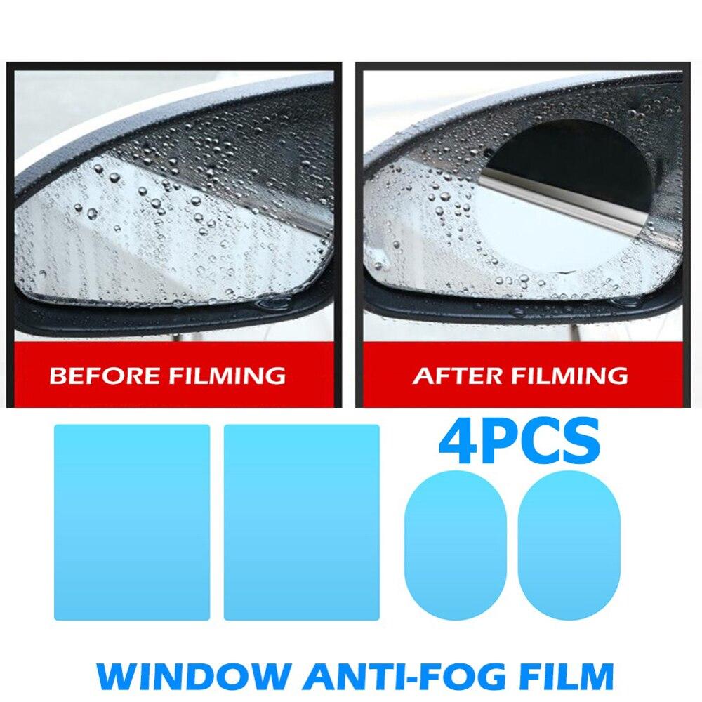 4pcs Clear Car Rearview Mirror Protective Films Window Scratch-proof Multifunctional Waterproof  Anti Fog Rainproof Films