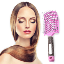 Get more info on the 3 Color Women Hair Scalp Massage Comb Bristle Nylon Hairbrush Wet Curly Detangle Hair Brush for Salon Hairdressing Styling Tools